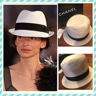 シャネル(CHANEL)の確実正規品CHANELストローハット♡ランウェイ着用♡シャネル♡メゾンミッシェル(麦わら帽子/ストローハット)