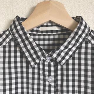 ジーユー(GU)の⚘ GU ⚘ gingham check shirt(シャツ/ブラウス(半袖/袖なし))
