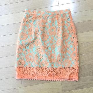 デイシー(deicy)の値下げ‼︎deicy♡配色レースタイトスカート♡S♡美品(ミニスカート)