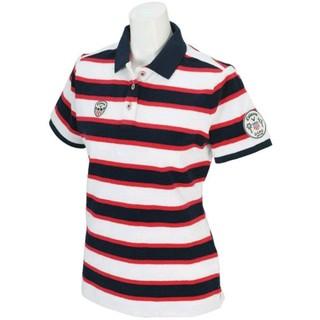 キャロウェイゴルフ(Callaway Golf)のキャロウェイ Callaway Golf  パイルボーダーポロ レディース  (ポロシャツ)