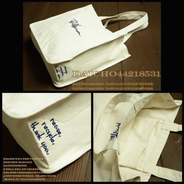 Ron Herman(ロンハーマン)の即日発送☆ロンハーマン 肩掛け キャンバス トートバッグ*刺繍◼️オフ白 レディースのバッグ(トートバッグ)の商品写真