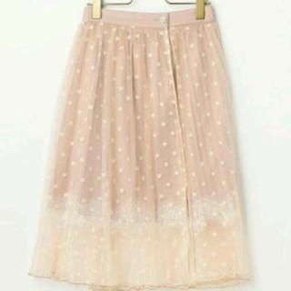 リズリサ(LIZ LISA)のリズリサプリーツドットスカート(ひざ丈スカート)