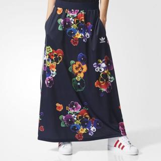 アディダス(adidas)のadidas originals レア フラワー柄 ロングスカート(ロングスカート)