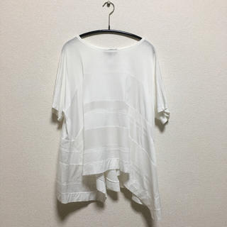 ドゥロワー(Drawer)のdrawer ボーダー切り替えTシャツ(Tシャツ(半袖/袖なし))