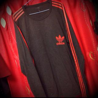 アディダス(adidas)のadidas★古着ロングtee(Tシャツ(長袖/七分))