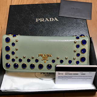 プラダ(PRADA)のプラダPRADA ビジュー 長財布 スタッズ(財布)