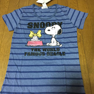 スヌーピー(SNOOPY)の新品☆Tシャツ☆ボーダー☆スヌーピー(Tシャツ(半袖/袖なし))