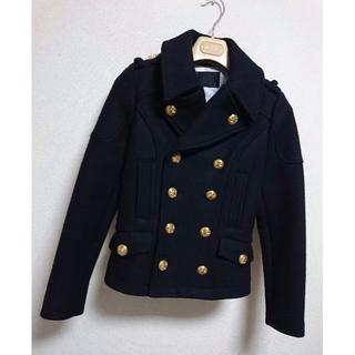 ロエン(Roen)の正規良 ロエン hyde着 ダブルライダースPコート ジャケット最小38 メンズ(ピーコート)