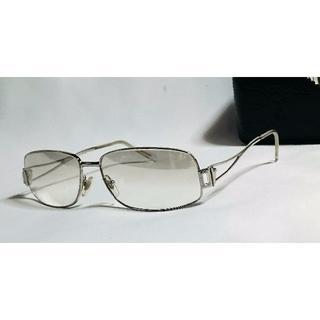 ジャンニヴェルサーチ(Gianni Versace)の正規希少 ヴェルサーチ メデューサ×ストーン装飾メタルサングラス クリア系 眼鏡(サングラス/メガネ)