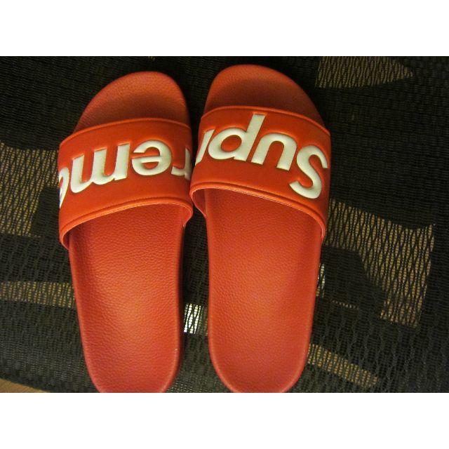 サンダル 赤 US9 27 メンズの靴/シューズ(サンダル)の商品写真