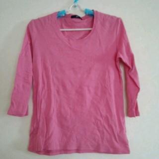ジーユー(GU)の★ピンクのTシャツと赤のTシャツ2点(Tシャツ(長袖/七分))