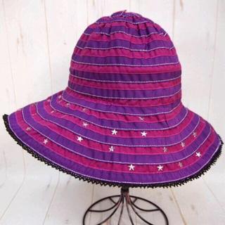 アナスイ(ANNA SUI)のANNA SUI アナスイ 星スタッズ付き ハット 帽子☆パープル(ハット)