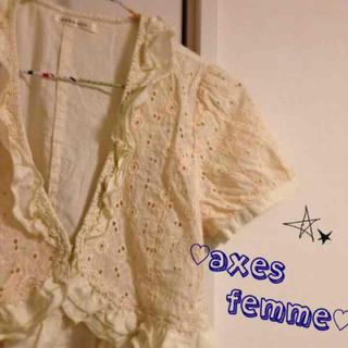 アクシーズファム(axes femme)のaxes femme ボレロ カーディガン アクシーズ 着画有り(ボレロ)