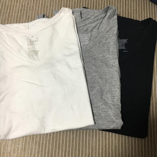 ムジルシリョウヒン(MUJI (無印良品))の無印✳︎VネックTシャツ 3枚セット(Tシャツ(半袖/袖なし))