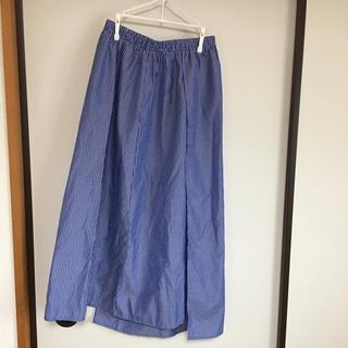 アンティカ(antiqua)のマム♡様専用 antiqua ストライプスカート ブルー(ロングスカート)