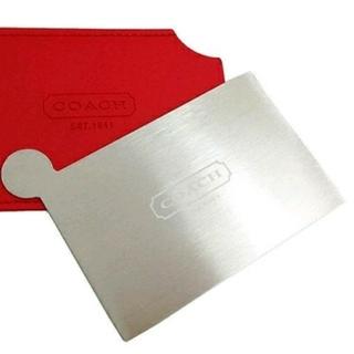 コーチ(COACH)の箱傷あり●COACHコーチ ステンレス製カードミラー 赤(その他)