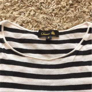 ドゥロワー(Drawer)の【美品】drawer ドゥロワー パフスリーブ ボーダー Tシャツ(Tシャツ(半袖/袖なし))