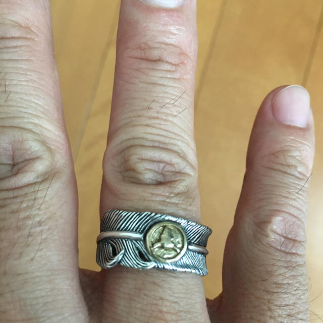 シルバー925 フェザーリング  水牛モチーフ メンズのアクセサリー(リング(指輪))の商品写真