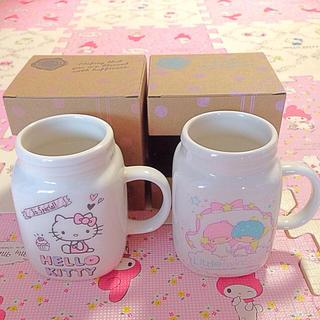 キティ♡キキララ♡マグカップセット(グラス/カップ)