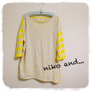 ニコアンド(niko and...)のniko and...*ボーダーTシャツ(Tシャツ(長袖/七分))