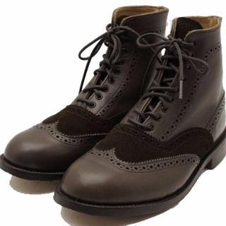 トリッカーズ(Trickers)の新品 トリッカーズ 切替 カントリー ブーツ 6 茶 ブラウン レディース(ブーツ)