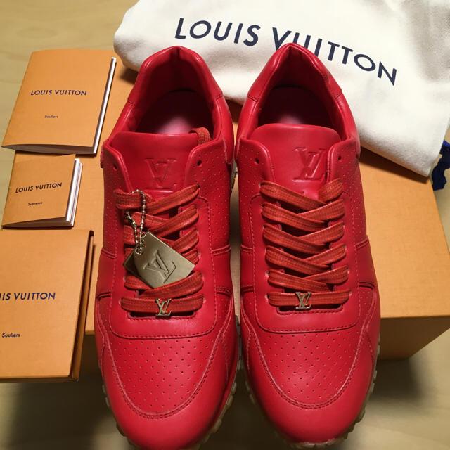 Louis Vuitton Supreme 24スニーカー RED 赤 靴