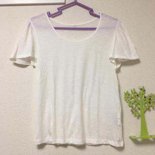 ムジルシリョウヒン(MUJI (無印良品))の無印良品 ベルスリーブ無地Tシャツ(Tシャツ(半袖/袖なし))