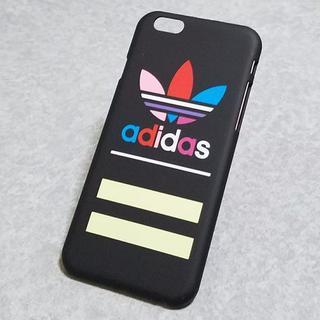 アディダス(adidas)のiPhone6/6s専用スマホケース ハードケース adidas 新品 ブラック(iPhoneケース)