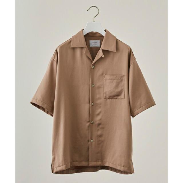 STUDIOUS(ステュディオス)のSTUDIOUS フィブリルサテンオープンカラーシャツ ピンク メンズのトップス(シャツ)の商品写真