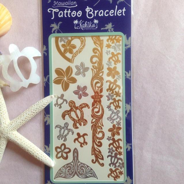 タトゥーシール 2枚入 ブラック アクセサリー  レディースのアクセサリー(ブレスレット/バングル)の商品写真