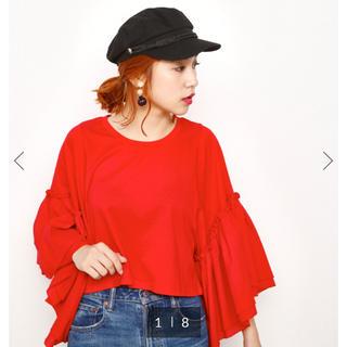 スライ(SLY)のSLY BUTTERFLY フリル TOPS(Tシャツ(半袖/袖なし))