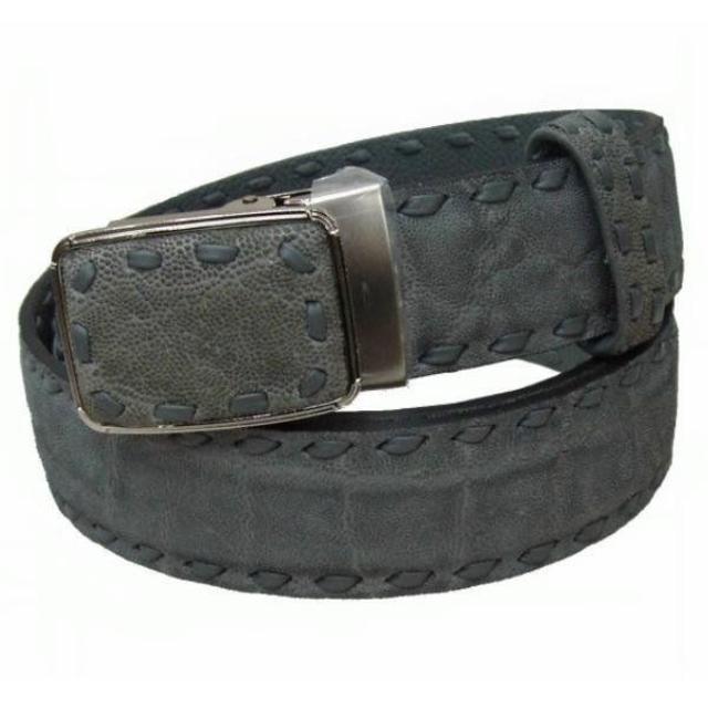 象革エレファント片面艶消し手縫いベルト40mm ELFBT-507-40グレー メンズのファッション小物(ベルト)の商品写真