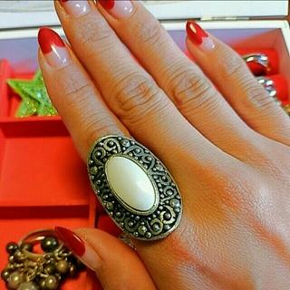 ホワイトターコイズアンティークリング(リング(指輪))