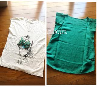 アーモワールカプリス(armoire caprice)のグリーントップス&デザインTシャツ(Tシャツ(半袖/袖なし))