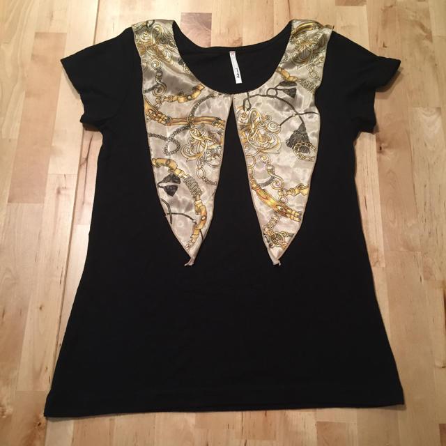 黒トップス レディースのトップス(Tシャツ(半袖/袖なし))の商品写真