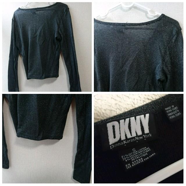 DKNY WOMEN(ダナキャランニューヨークウィメン)のDKNY/ダナ・キャラン・ニューヨーク/レディース/メタリックカーディガン/S レディースのトップス(カーディガン)の商品写真
