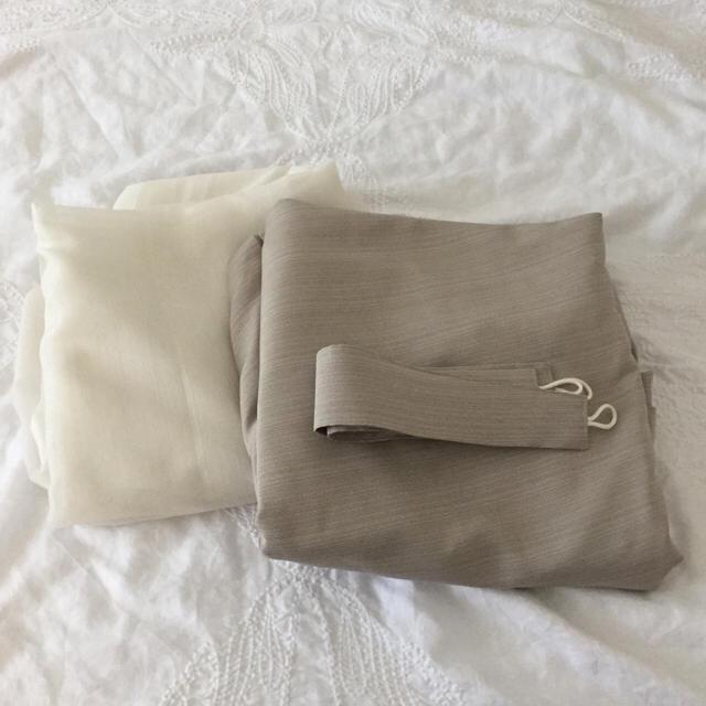 MUJI (無印良品)(ムジルシリョウヒン)の無印オーダー カーテン&レースカーテン 4枚セット 100 X 250 cm インテリア/住まい/日用品のカーテン/ブラインド(カーテン)の商品写真