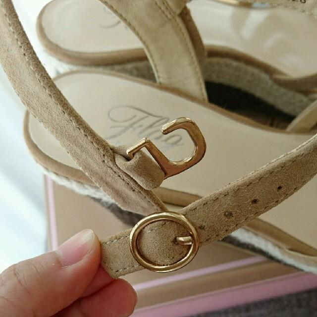 Akakura(アカクラ)のAkakura flagウェッジソールサンダル ベージュ サイズ23㎝ M レディースの靴/シューズ(サンダル)の商品写真