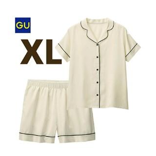 ジーユー(GU)のサテン パジャマ 半袖 ショートパンツ GU(パジャマ)