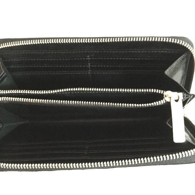 PATRICK STEPHAN(パトリックステファン)の長財布 ストライプ シリーズ ブラック レザー ♦︎ パトリック ステファン メンズのファッション小物(長財布)の商品写真