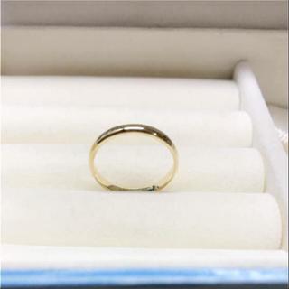 . k18  新品 20号 男女兼用  お揃いリングにも 安心の日本製(リング(指輪))