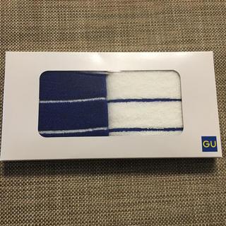ジーユー(GU)の新品✨送料込み!非売品✨G.U. ミニハンドタオル2枚セット(タオル/バス用品)