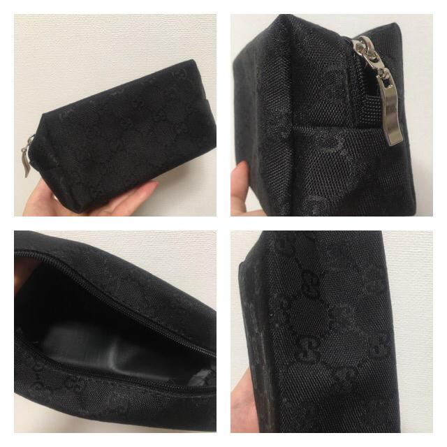 ブラック  コスメポーチ レディースのファッション小物(ポーチ)の商品写真