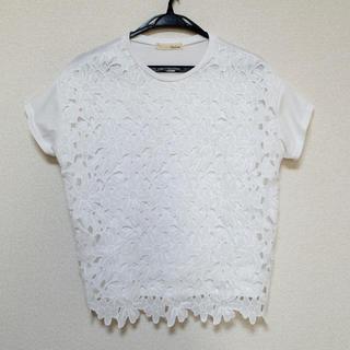 バビロン(BABYLONE)のFLEUR DE SHOP 花柄レースTシャツ(Tシャツ(半袖/袖なし))