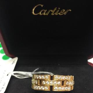 カルティエ(Cartier)の半値美品❣️カルティエ マイヨンパンテール ハーフダイヤモンドりん(リング(指輪))