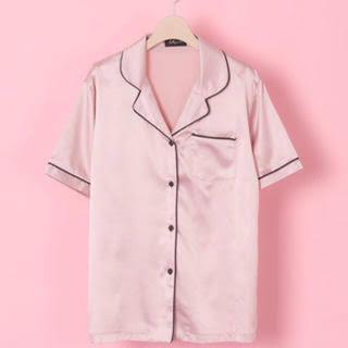 ハニーミーハニー(Honey mi Honey)の新品未使用vannie tokyoサテンパジャマシャツ(Tシャツ(半袖/袖なし))