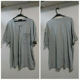 マンシングウェア(Munsingwear)のMUNSINGWEAR/マンシングウェア/ボタン半袖シャツ/グレー/LLサイズ/(Tシャツ/カットソー(半袖/袖なし))