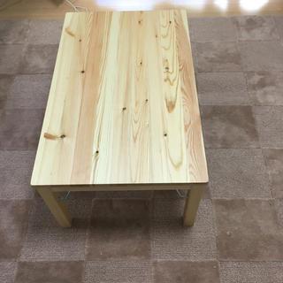 ムジルシリョウヒン(MUJI (無印良品))の無印 天然木パイン材 折りたたみデスク(ローテーブル)