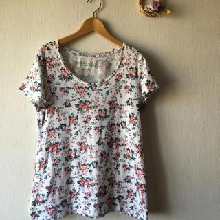ユニクロ(UNIQLO)のローラアシュレイ×ユニクロコラボTシャツ L(Tシャツ/カットソー(半袖/袖なし))