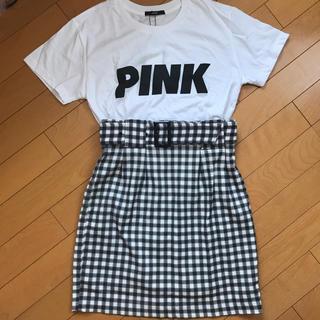 エモダ(EMODA)の新品未使用♡EMODATシャツスカートセット♡(Tシャツ(半袖/袖なし))